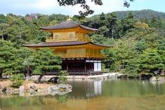 Kinkakuji - Złoty pawilon, Kyoto, Japonia Fotografia Royalty Free