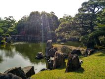 kinkakujikyoto tempel arkivbild
