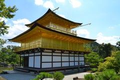 Kinkakuju tempel (guld- paviljong) i Kyoto, Japan Royaltyfri Foto