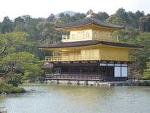 Kinkankuji - guld- tempel Arkivfoton