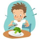 Kinkig ätare vektor illustrationer