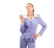 kinky affärskvinna arkivbild