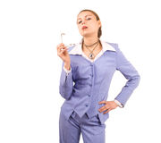Kinky businesswoman Stock Photography