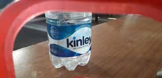Kinley  water for drinking stock photos