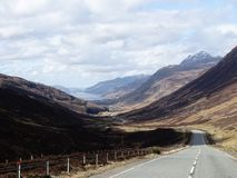 Kinlochewe. Looking down a Scottish glen stock photography
