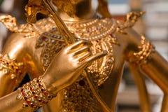 Kinnara, Thai mythical creature, detail. Kinnara, Thai mythical creature, Thailand Grand Palace Royalty Free Stock Photos