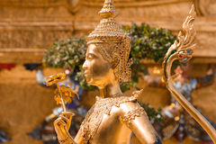 Kinnara, Thai mythical creature. Thailand Grand Palace royalty free stock images