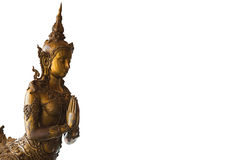 Kinnaree dorato della Tailandia Immagini Stock Libere da Diritti