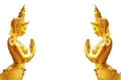 Kinnaree - Mythical female bird Royalty Free Stock Photo