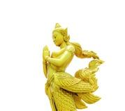 Kinnaree : The mythical half bird half woman  Stock Photos