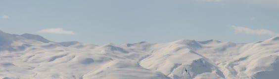 Kinnarfjoll山脉地平线全景 库存照片