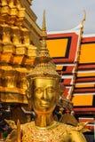 Kinnari曼谷玉佛寺 免版税库存照片