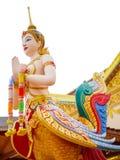 Kinnari ist Halb-Vogel - Halbfrauengeschöpf an der südostasiatischen buddhistischen Mythologie Stockbilder