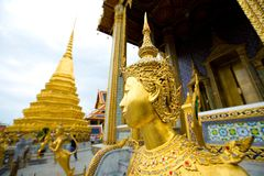 Kinnari statue at grand palace,, Bangkok Thailand. Stock Photos