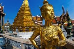 Kinnari statue at Wat Phra Kaew, Grand Palace. Grand Palace in Bangkok, Thailand, Kinnari statue at Wat Phra Kaew ,Mythological creature, half bird, half man Royalty Free Stock Photography