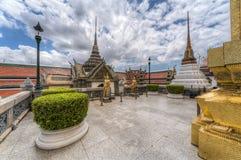 Kinnari statues in the Temple of the Emerald Buddha  complex Stock Photo