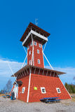 Kinnekulle observation tower a landmark in the area Stock Photos
