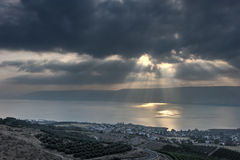 Kinneret morning Stock Photography