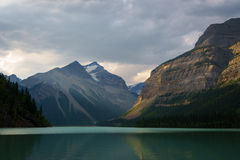 Kinney Lake, Mount Robson. Provincial Park, British Columbia Royalty Free Stock Images