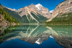 Kinney See Mt Robson Provincial Park Lizenzfreie Stockfotos