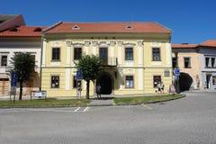 Kino大厦在Levoca镇 库存照片