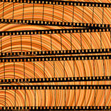 Kino abstract. Conceptual movie background with film reel cuts, abstract art stock illustration