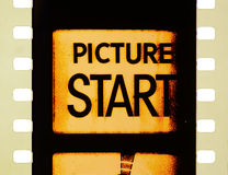 Kino-Film-Anfang Lizenzfreies Stockfoto
