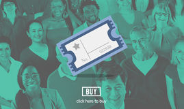 Kino-Film-Theater-Unterhaltungs-Karten-Konzept stockbild