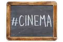 Kino hashtag lizenzfreie stockbilder