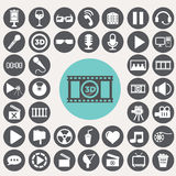 Kino-Ikonen eingestellt lizenzfreie abbildung