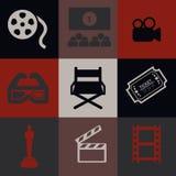 Kino-Ikonen-Satz stock abbildung