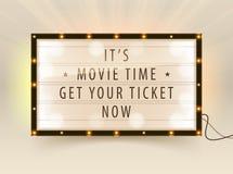Kino lightbox Stockfoto
