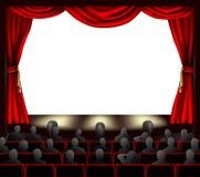 Kino mit Publikum Stockfotografie
