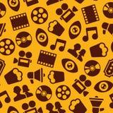 Kino-nahtloses Muster Stockfotos