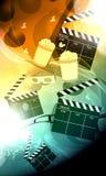 Kino oder Filmhintergrund Lizenzfreies Stockfoto