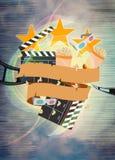 Kino oder Filmhintergrund Lizenzfreies Stockbild
