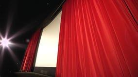 Kino - perspektywa strzelająca końcowa zasłona zbiory