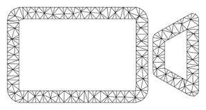 Kino-polygonaler Rahmen-Vektor Mesh Illustration vektor abbildung