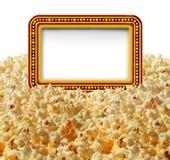 Kino-Popcorn-Zeichen Stockbild
