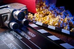 Kino popkorn fotografia stock