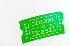 Kino robi Brasil emblematowi zdjęcie royalty free