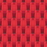 Kino setzt nahtloses Muster Endlose Beschaffenheit stock abbildung