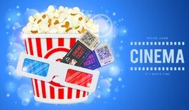 Kino und Film-Fahne stock abbildung