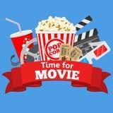 Kino- und Filmzeit lizenzfreie abbildung