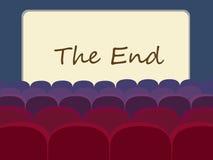 Kino- und Kinoleinwandvektorillustration stock abbildung