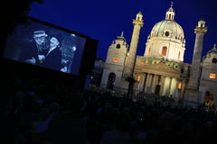 Kino unter Sternen open air cinema Vienna Royalty Free Stock Photos