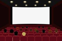Kino z ludźmi royalty ilustracja