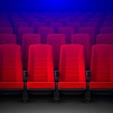 Kino z rzędami czerwieni puści krzesła ilustracji