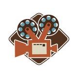 Kinofilmdesign Lizenzfreies Stockfoto
