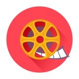 Kinofilmfilm-Spulenikone Stockfoto